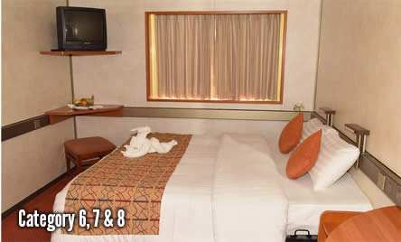 2 night Bahamas cruise bedrooms category 6,7 snd 8