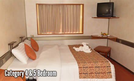 2 night cruise to the Bahamas category 4 and 5 bed room