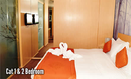 2 night cruise to Bahamas bedroom